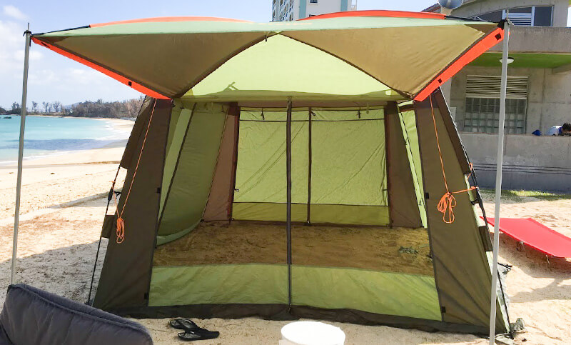 ロゴスのインセクトスクリーン 夏キャンプ