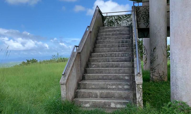 乙羽岳森林公園キャンプ場の展望台
