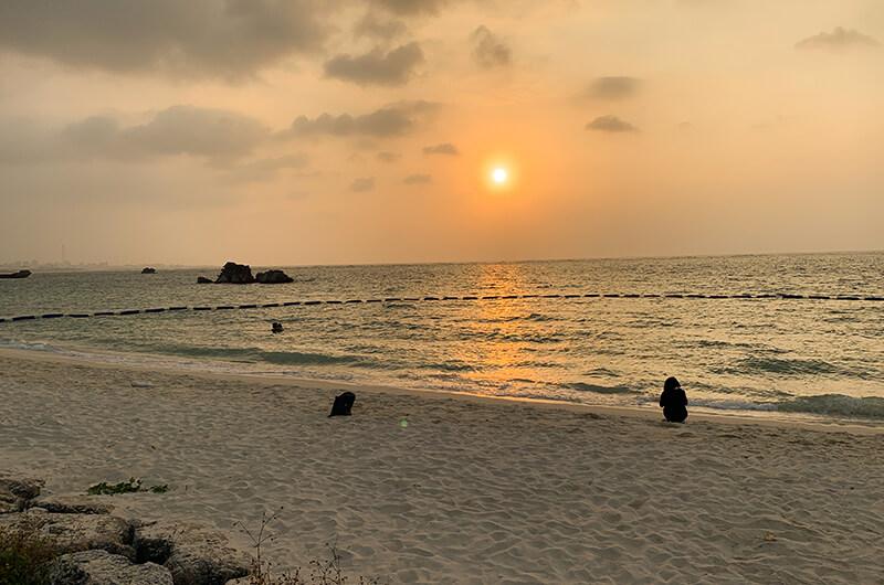 アラハビーチ 夕焼け